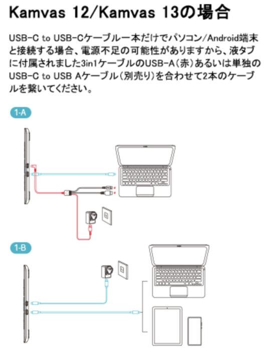 HUION USB-C to USB-Cケーブル