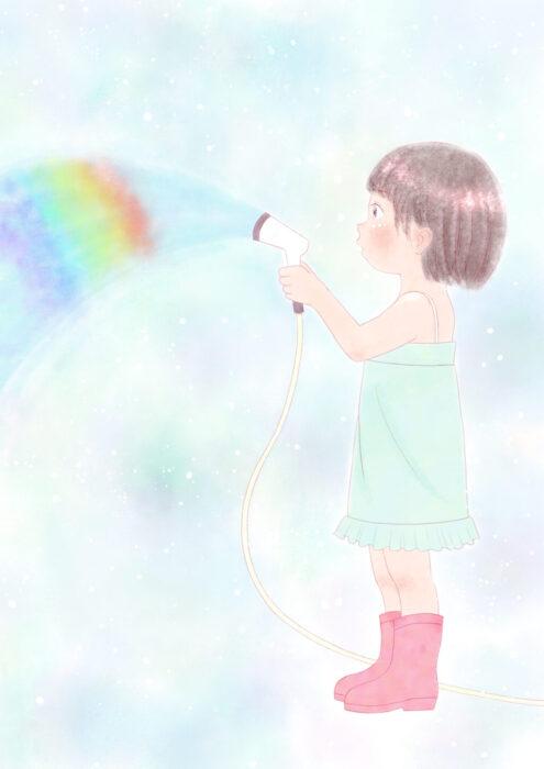 絵の練習3ヶ月目イラスト 水虹