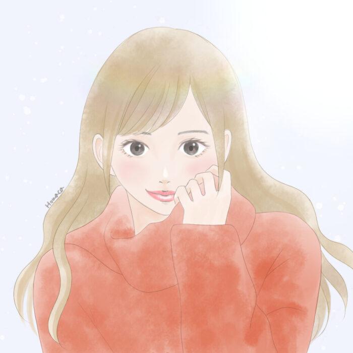 ニット女の子イラスト